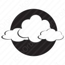 Moon behind clouds icon